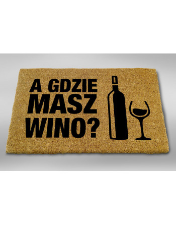 "Logomata kokosowa ""Gdzie masz wino"""