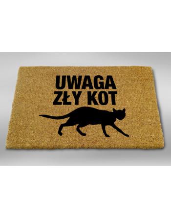 """Logomata kokosowa """"Uwaga zły kot"""""""