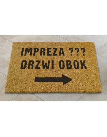 """Logomata kokosowa """"Impreza drzwi obok"""""""